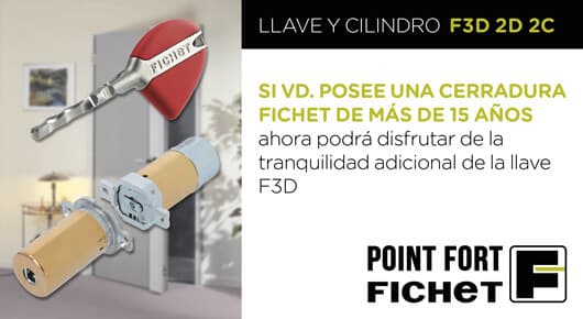 Llave y cilindro F3D 2D 2C - Fichet